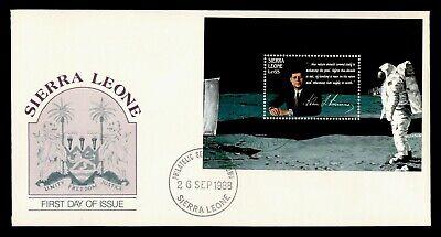 DR WHO 1988 SIERRA LEONE FDC SPACE JOHN F KENNEDY JFK S/S  g20549