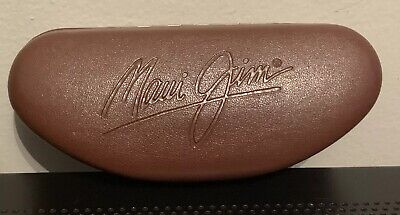 Maui Jim Brown Leather Sunglasses Hard Protective Case - Case Only for (Maui Sunglasses Sale)
