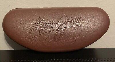 Maui Jim Brown Leather Sunglasses Hard Protective Case - Case Only for (Maui Jim Case Sale)