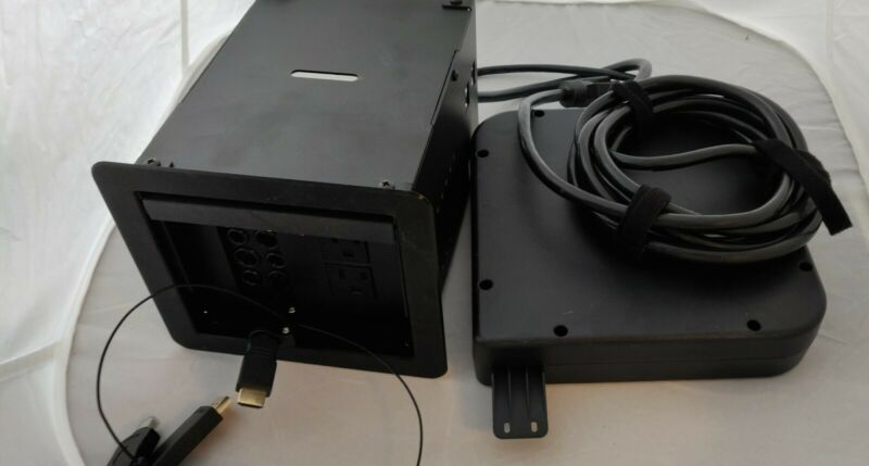 Legrand TB672APBK Wiremold Table W/ installed TBCRHDMI and Adapters