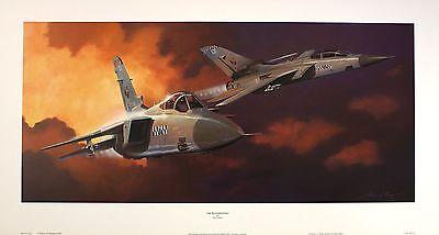 ADRIAN RIGBY Peacekeepers Tornado jet RAF art SIZE:35cm x 76cm  RARE