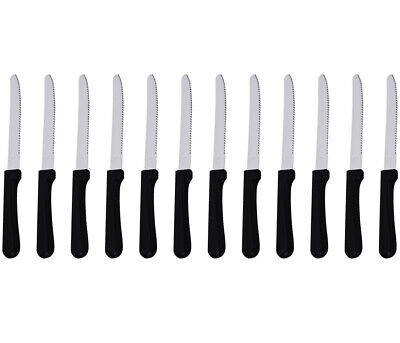 5-Inch Blade Steak Knives, Stainless Steel Rounded Serrated