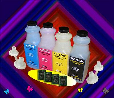 - Xante Ilumina 502  Glossy (CMYK) Toner Refill Kit w/Chips 200-100222, 23,24, 25
