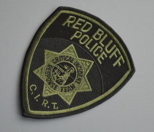 Red Bluff California Police CIRT Subdued Patch ++ Mint Tehama County CA