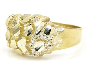 Mens 10K Gold Nugget Ring   eBay