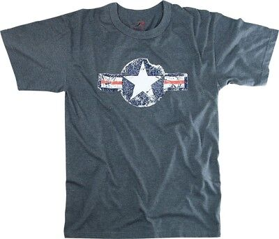 Navy Blue Army Air Corp Vintage Short Sleeve Design T-Shirt Army Air Corp Blue T-shirt