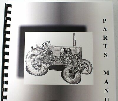 Massey Ferguson Mf 1010 Hydro Tractor Parts Manual