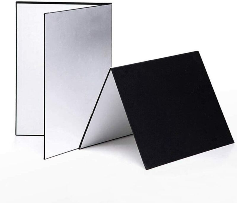 2 Pack Photography Cardboard Folding Reflector Paper Board Photography Backdrop