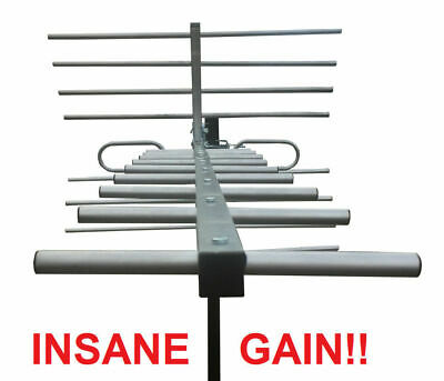250 Mile Indoor Outdoor HD TV Antenna - DEEP FRINGE CAPABLE! - 1080p Digital