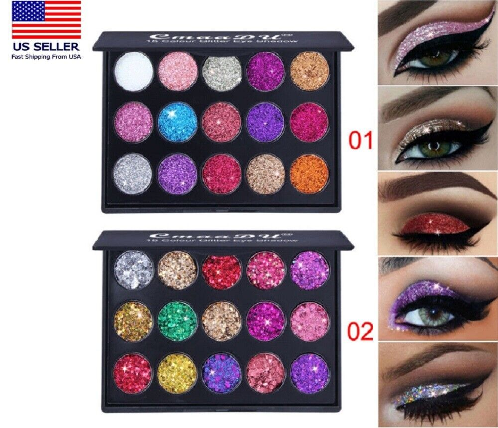 15Colors Matte Eyeshadow Makeup Kit Shimmer Glitter Eye Shadow Powder Palette US Eye Shadow