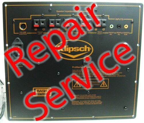 Klipsch ProMedia 5.1 ULTRA and THX Amplifier Repair-Service W/ COOLING UPGRADE