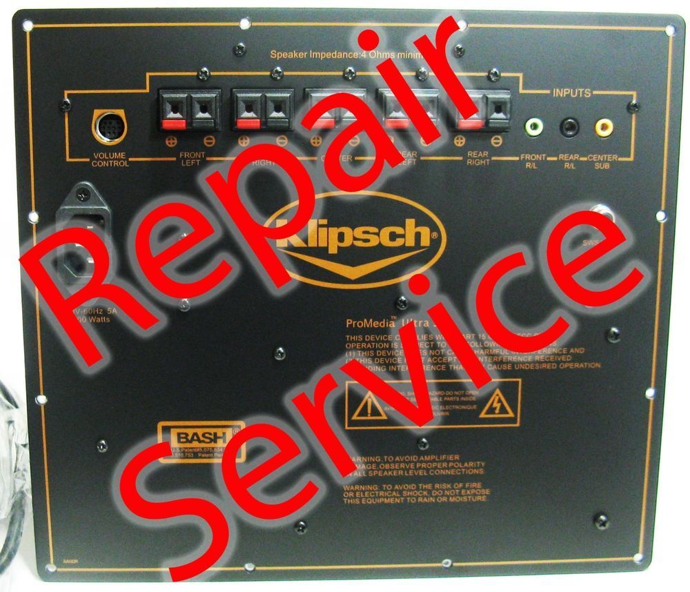 Klipsch ProMedia 5.1 ULTRA and THX Amplifier Repair-Service W/ COOLING UPGRADE