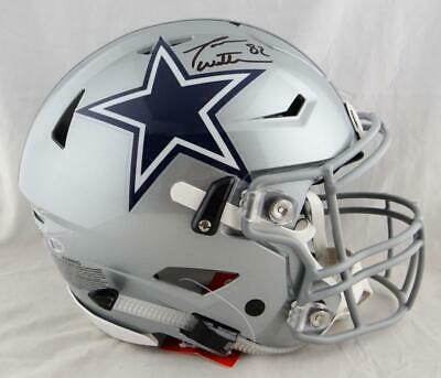 67eafc7acca Jason Witten Autographed Dallas Cowboys F/S SpeedFlex Helmet-Beckett Auth  *Black