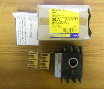 New In Box Square D 30 Amp 3 Pole Circuit Breaker Qou3301200 ....... Wg-343