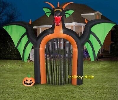 14.5 Ft FIRE BREATHING DRAGON ARCHWAY Airblown Lighted Yard Inflatable
