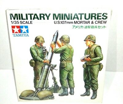 US 107mm Mortar & Crew Tamiya Military Miniatures 1/35 Scale Model Figure Kit