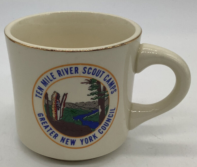BSA Ten mile river scout camps greater New York councils cup Circa 1970s Indian