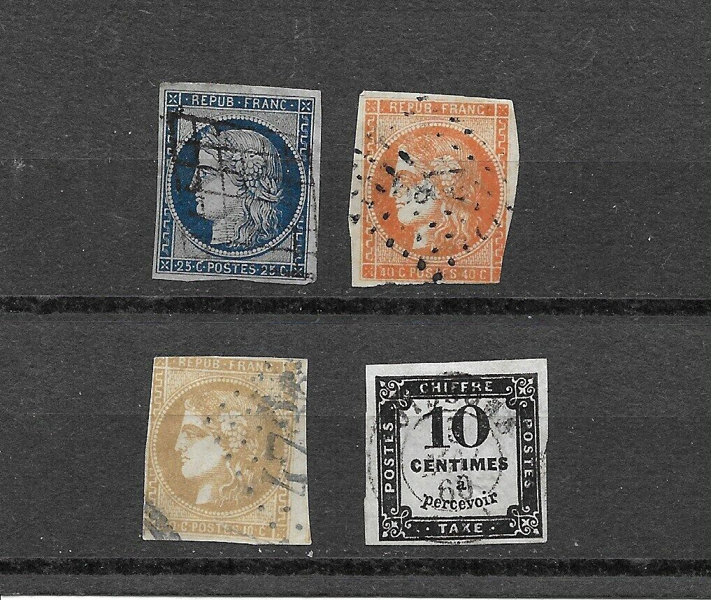 France. 6. 7. 42,J3. All With Small Flaws - $14.00