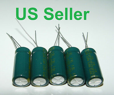 16v 3300uf 105c 10 X 24 Mm Low Esr Sanyo Capacitors New 5 Pcs