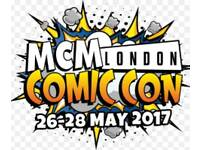 MCM Comic Con Sunday priority entry tickets