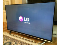 "LG 49"" Smart 3D 4k Ultra HD LED TV -1600PMI- Harman / Kardon -WARRANTY"