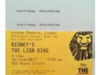 Edinburgh - London return Train & Lion King tkts