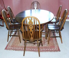Old Charm Gate Leg Table and Chairs