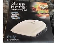 George Foreman 5 Portion Grill in Cream £25 ONO
