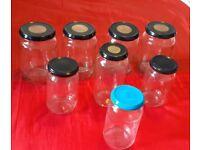Job Lot Jars Bottles Metal Lids Large And Small Sizes x 8