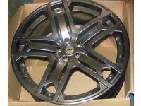 Range Rover Velar Alloy Wheels Kahn RS600 22 inch set of 4 Painted Black Diamond