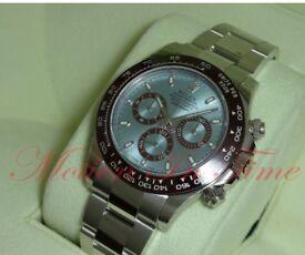 Rolex Cosmograph Daytona Platinum Ice Blue Dial Ceramic Bezel Chronograph 116506 Watch