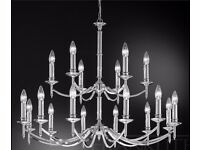 Large Modern Chandelier Polished Chrome Pendant Fitting