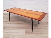 Scandinavian Mid- Century Coffee Table (DELIVERY AVAILABLE FOR THIS ITEM OF FURNITURE)