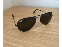 Ray ban black aviator sun glasses