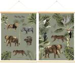 Schoolplaat Kinderposter Poster Jungle Big Five Little Pure