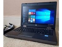 "As New High Spec HP Intel Core i5-3210 Laptop,8GB RAM,SSD Hard Drive,14"" Led,Windows 10 Pro 64 Bit,"