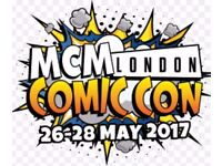 MCM London General Entry Tickets Friday and Saturday