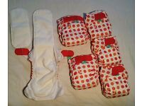 Original Brand New Tot Bots Easyfit Fox Spots reusable Fabric Cloth Diapers Nappies (6 available)