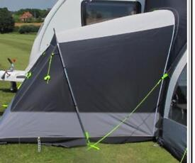 Kampa fiesta air pro 350 with annexe and ground carpet.