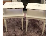 PAIR OF SHABBY CHIC TABLES/BEDSIDE CABINETS