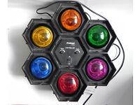 Pro Sound 6-Pack Coloured 40W Pod Disco Studio Party Lights