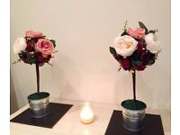 Handmade/bespoke artificial flower decorations for weddings/events