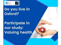 Take part in our study - Valuing health