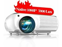 NEW TOPTRO Projector Upgraded 7000 Lumens Native 1920x1080P Full HD Video Projector Support 4K