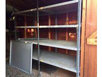 Metal racking shelves suitable for garage/shed
