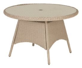 Argenta Rattan Effect 4 seater Dining Table