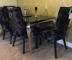 New Luxury Louis vIII Dining table & 4 Chairs