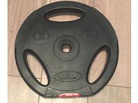 Body Power 10Kg Tri Grip VINYL Standard Weight Disc Plates (x2)