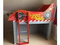 FREE !!!! Bespoke racing car lift off top toddler bed or cabin bed