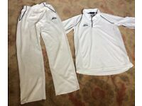 Slazenger Cricket top and trousers boy 9-11 yrs